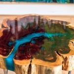 Awesome Resin Wood Table Project 10