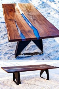 Awesome Resin Wood Table Project 11