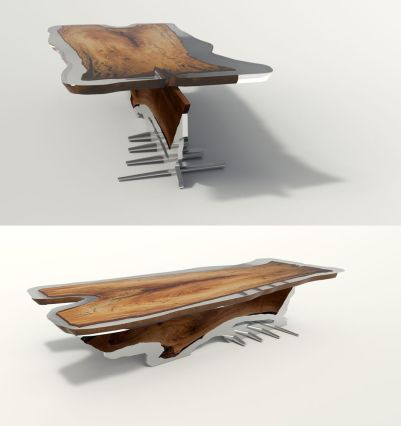 Awesome Resin Wood Table Project 18