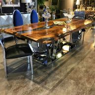 Awesome Resin Wood Table Project 27