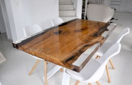 Awesome Resin Wood Table Project 32