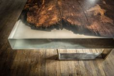 Awesome Resin Wood Table Project 4