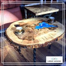 Awesome Resin Wood Table Project 53