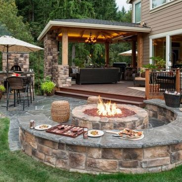 Awesome Yard and Outdoor Kitchen Design Ideas 35