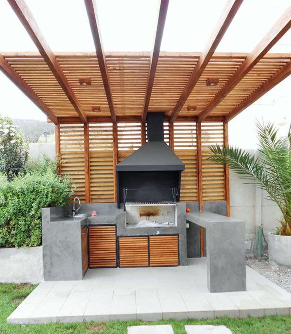 Awesome Yard And Outdoor Kitchen Design Ideas 37