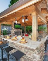 Awesome Yard and Outdoor Kitchen Design Ideas 47   Hoommy.com