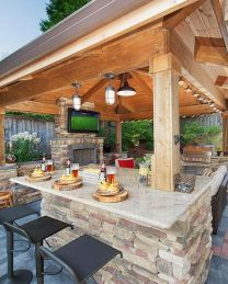 Awesome Yard and Outdoor Kitchen Design Ideas 47
