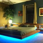 Modern Floating Bed Design with Under Light Ideas 14