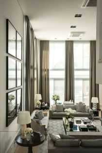 Awesome Tall Curtains Ideas for Living Room 2