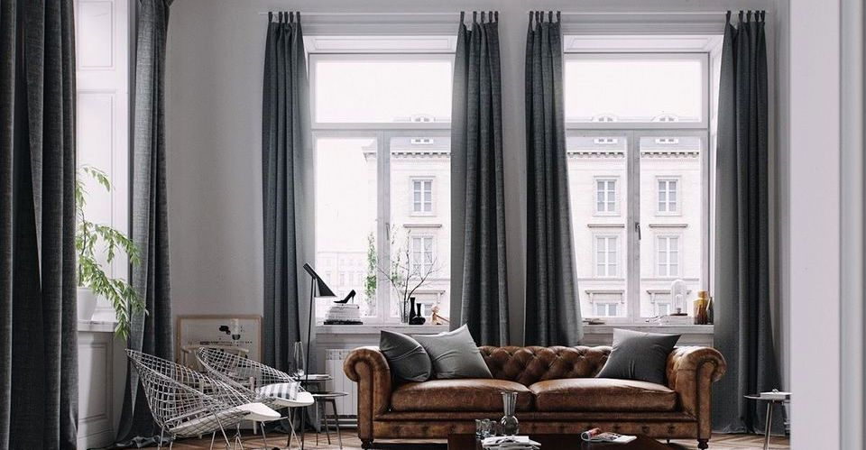 Elegant Tall Curtains Ideas for Living Room