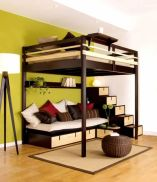 Awesome Cool Loft Bed Design Ideas and Inspirations 48