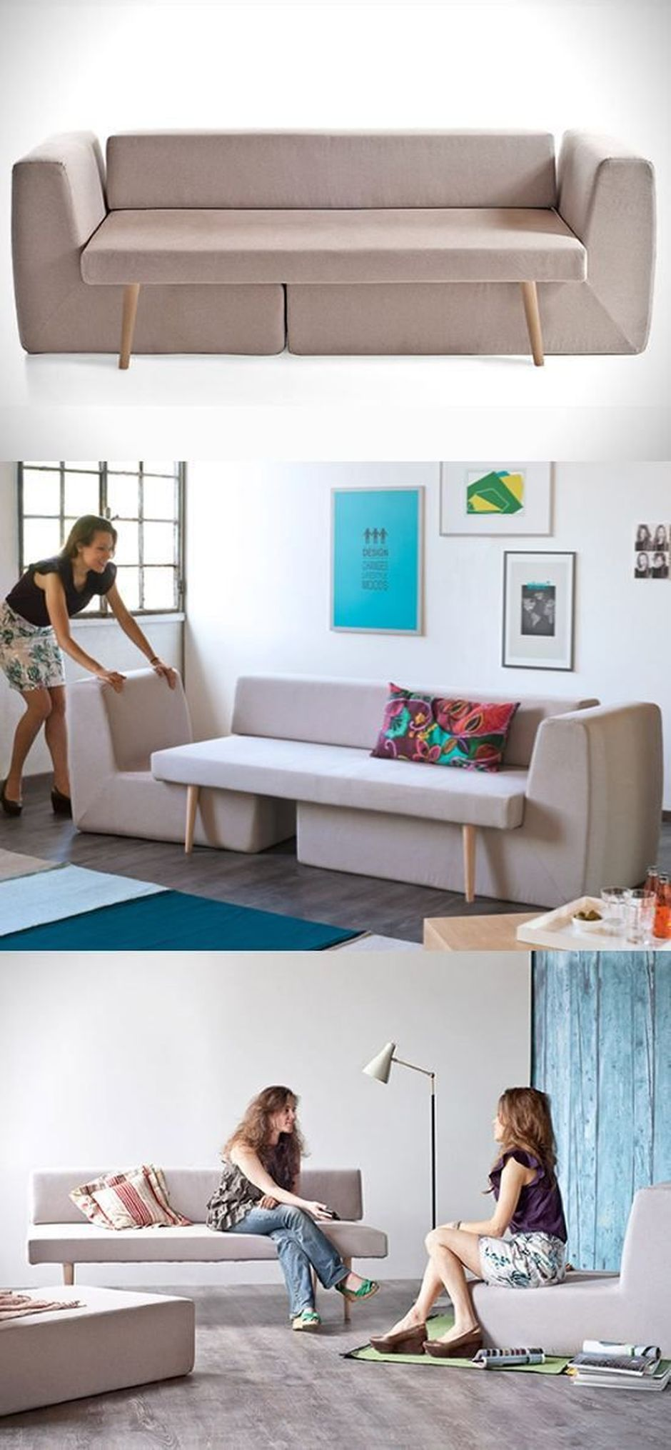 Cool Modular and Convertible Sofa Design for Small Living Room 13