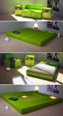 Cool Modular and Convertible Sofa Design for Small Living Room 67