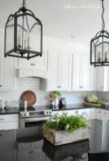 Elegant Kitchen Light Cabinets with Dark Countertops 12