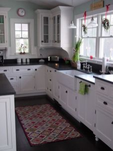 Elegant Kitchen Light Cabinets with Dark Countertops 24