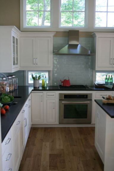 Elegant Kitchen Light Cabinets with Dark Countertops 30
