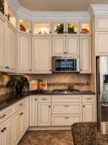 Elegant Kitchen Light Cabinets with Dark Countertops 38