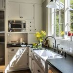 Elegant Kitchen Light Cabinets with Dark Countertops 53