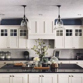 Elegant Kitchen Light Cabinets with Dark Countertops 68