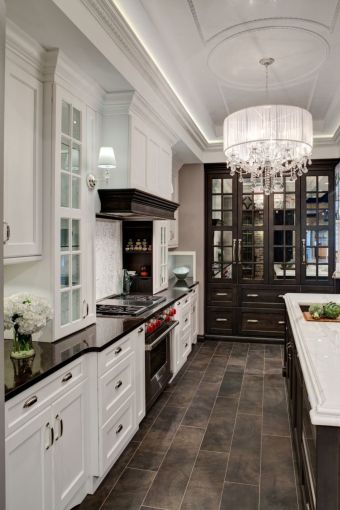 Elegant Kitchen Light Cabinets with Dark Countertops 8