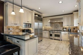 Elegant Kitchen Light Cabinets with Dark Countertops 9