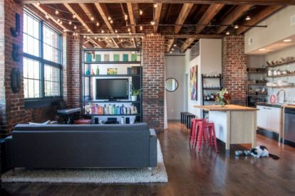 Fascinating Exposed Brick Wall for Living Room 2
