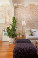 Fascinating Exposed Brick Wall for Living Room 35