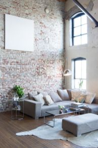 Fascinating Exposed Brick Wall for Living Room 44