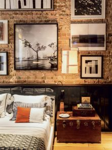 Fascinating Exposed Brick Wall for Living Room 51