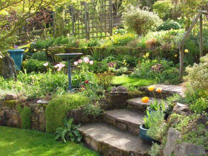 That is How to Make Garden Steps on a Slope 28