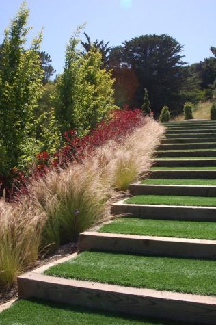 That is How to Make Garden Steps on a Slope 6