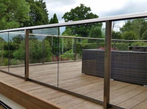 Glass Railing Design for Blacony Fence