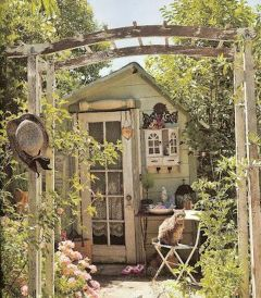 50 Rustic Backyard Garden Decorations 19