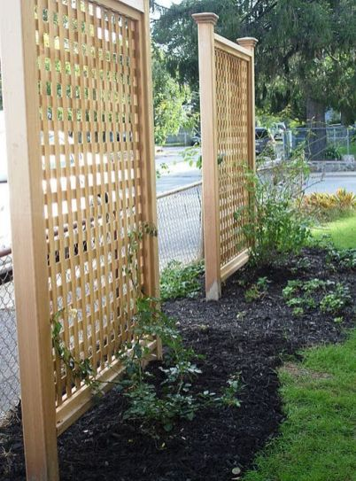 Cool Privacy Fence Wooden Design for Backyard 23
