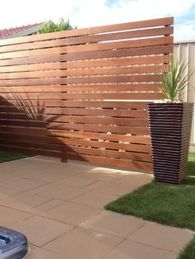 Cool Privacy Fence Wooden Design for Backyard 32