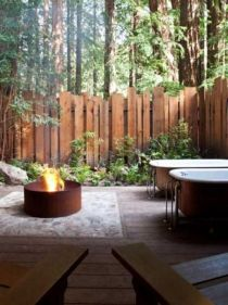 Cool Privacy Fence Wooden Design for Backyard 35