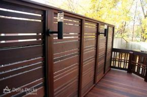 Cool Privacy Fence Wooden Design for Backyard 37