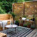 Cool Privacy Fence Wooden Design for Backyard 78