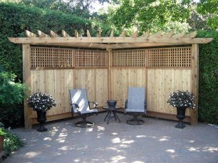 Cool Privacy Fence Wooden Design for Backyard 82