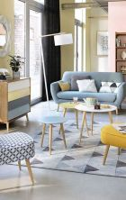 Cozy and Colorful Pastel Living Room Interior Style 19