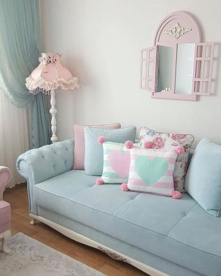 Cozy and Colorful Pastel Living Room Interior Style 36