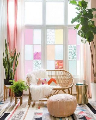 Cozy and Colorful Pastel Living Room Interior Style 37