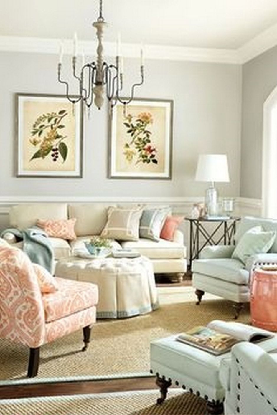 Cozy and Colorful Pastel Living Room Interior Style 2