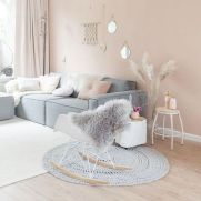 Cozy and Colorful Pastel Living Room Interior Style 5