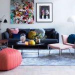 Cozy and Colorful Pastel Living Room Interior Style