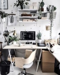 Inspiring Simple Work Desk Decorations and Setup 66