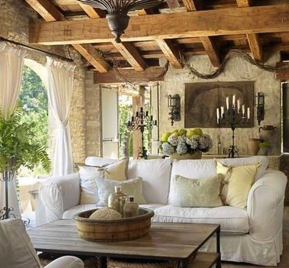 Rustic italian tuscan style for interior decorations 46 - Italian inspired living room design ideas ...