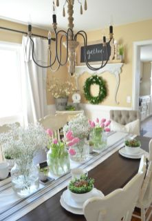 Spring Home Table Decorations Center Pieces 26