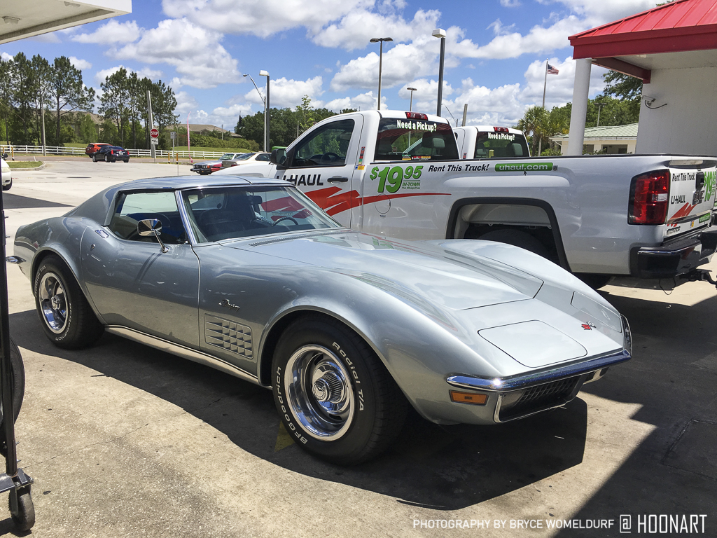 Front three quarter view of C3 Corvette Stingray