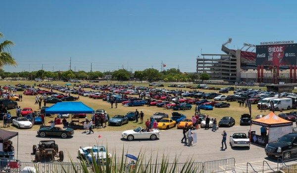 Wide image of Miatapalooza at Raymond James Stadium